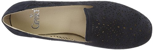 Caprice Footwear Women's 24501 Loafers, Blue, 5 UK Blue (Ocean Suede)