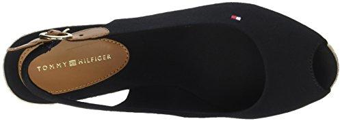 Tommy Hilfiger Damen Iconic Elba Basic Sling Back Espadrilles Schwarz (Black 990)