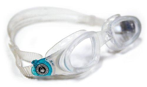 Óculos De Natação Aqua Sphere Mako Transpartente/Presilha Turquesa - Lente Transparente