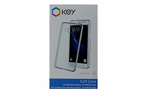 uk availability f7a99 125e8 Amazon.com: Key Soft Case for Samsung Galaxy J3 POP/Emerge - Clear ...