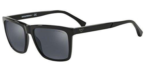 5b8d87e75af Emporio Armani EA4117 50176G Black EA4117 Rectangle Sunglasses Lens  Category 3