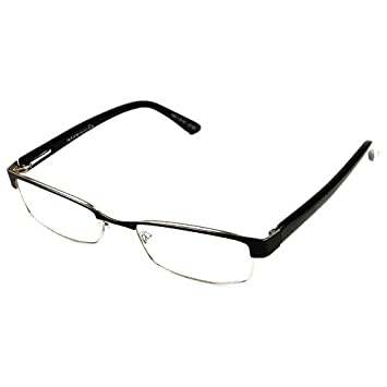 c257dc371e0 Image Unavailable. Image not available for. Color  Foster Magnivision +1.00   quot MOLLY quot  Black and Silver Metal Frame Reading Glasses with