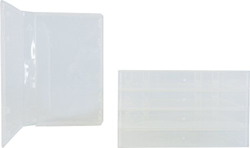 (5)Standard Single Plastic VHS Storage Boxes – VHBR30CL-ALT