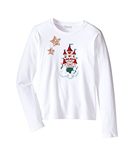 Dolce & Gabbana Kids Girls' City Long Sleeve T-Shirt, White Print, 12 Big Kids by Dolce & Gabbana