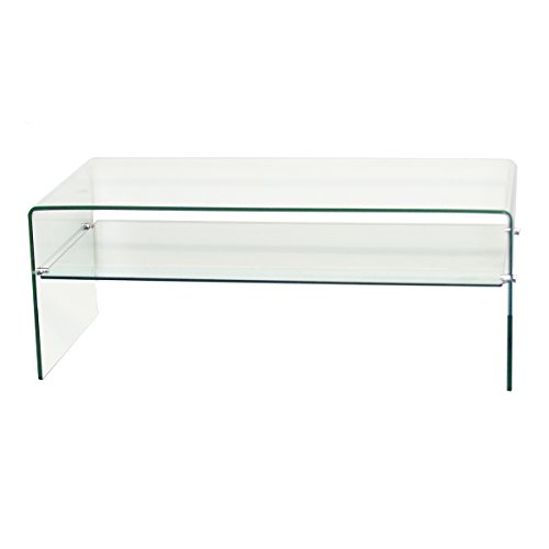 Fab Glass And Mirror 3 8 Thick Clear Bent Glass Coffee Table