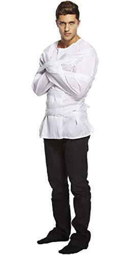 Adult Mens Mental Patient Straight Jacket Halloween Fancy Dress Costume Outfit]()