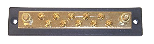 Sierra International FS40750 Hot Feed/Common Ground Brass Bus Bar with Ten 10-32 Screw & 1/4