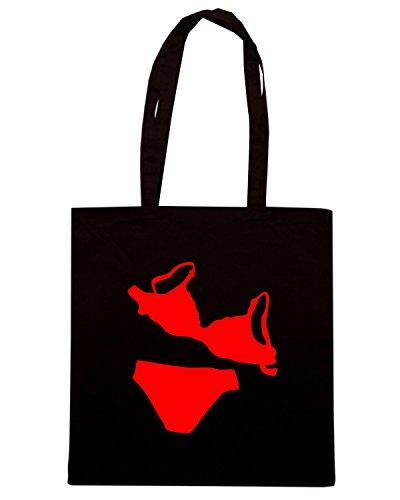 T-Shirtshock - Bolsa para la compra FUN0774 bikini decal 78431 Negro