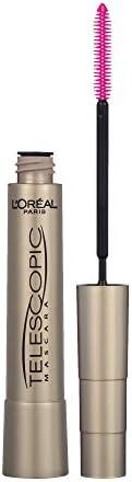 L'Oréal Paris Telescopic Mascara, Lengthening Up To 60% Longer Lashes, No Clumps, Blackest B