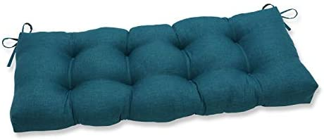 Editors' Choice: Pillow Perfect Outdoor/Indoor Rave Teal Tufted Bench/Swing Cushion