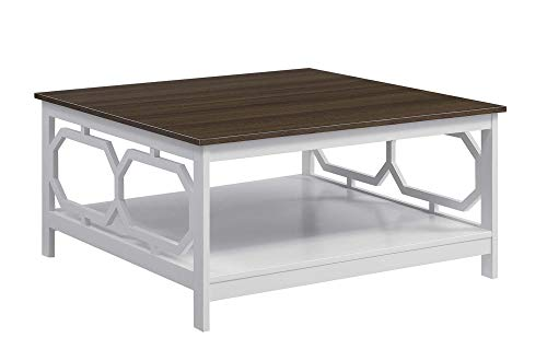 (Convenience Concepts 203263WDFTW Omega Square Coffee Table, 36