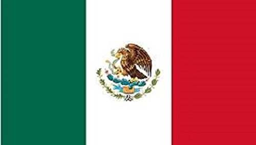 Mexico Flag 8ft x 5ft Huge - 100% Polyester - Metal Eyelets - Double Stitched by Perfectflags