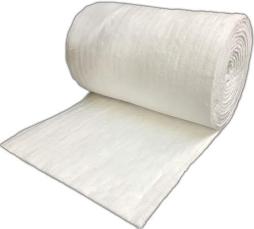 Premium Ceramic Fiber Blanket 8# 2300F 1/2''x24''x50' for Industrial Use and Do-It-Yourself Forge, Kiln, Pizza Oven, Glass Blowing, Maple, and More by Rubix Composites