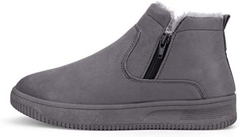 冬 人気 ワークブーツ 厚底 裏ボア 作業靴 お出かけ ムートンブーツ メンズ 滑らない もこもこ 雪靴 スノーブーツ 防滑 ショットブーツ ファッション 綿靴 歩きやすい 秋冬 純色 ウィンターブーツ メンズ 靴