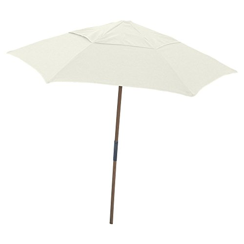 Market Fiberbuilt Umbrella (Fiberbuilt 7.5 Market Beach Umbrella; Natural)