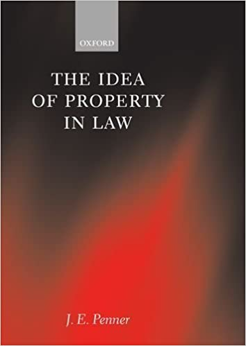 The Idea of Property in Law by J. E. Penner (1997-05-29)