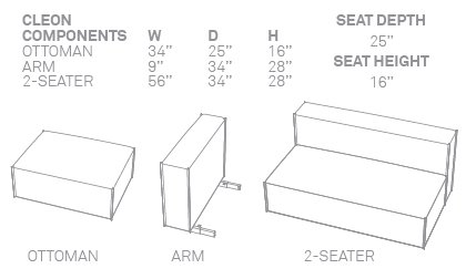 Super Amazon Com Blu Dot Cleon Small Sectional Sofa Basalt Cjindustries Chair Design For Home Cjindustriesco