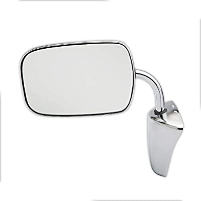 Dependable Direct Left or Right Chrome Folding Manual Operated Mirror for 1973-1991 Chevy C/K Pickup GM1320227 - See Description for Full Fitment List: Automotive