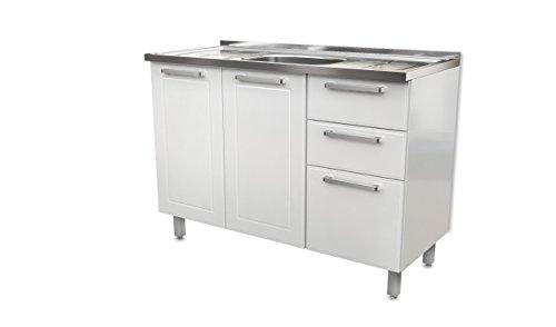 BSK Base Steel Kitchen Cabinet 3 Doors 2 Drawers 48\