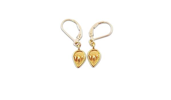 Lotus Hoop Brass earrings tribal earrings simple zen yoga jewelry gift for her dainty dangle flower earrings Hoop earrings