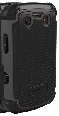 Ballistic SA0575-M315 Shell Gel [SG] 3-Layer Case for BlackBerry Bold 2 9700 - 1 Pack - Retail Packaging - Black (9700 Silicone)