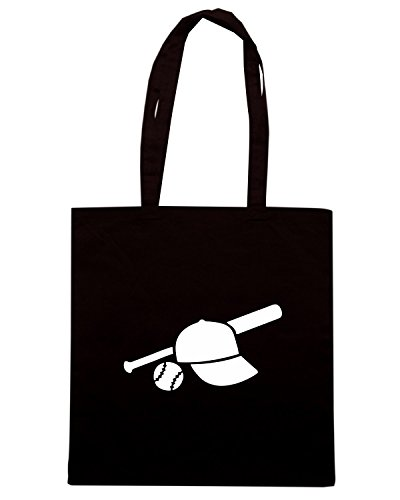 T-Shirtshock - Bolsa para la compra SP0009 Baseball Equipment Maglietta Negro