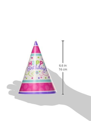 Amscan Paper Cone Party Hats | Birthday | Purple & Teal Collection