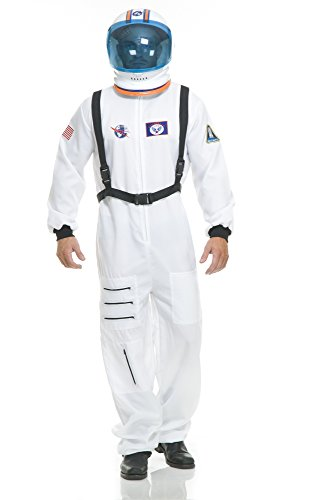 Charades Unisex-Adult's Astronaut Costume, White, Medium -