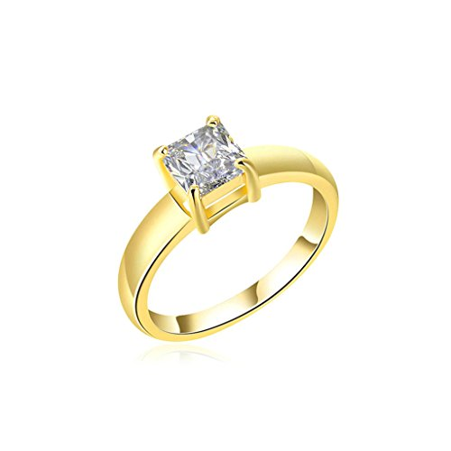 Canon Loupe - Bishilin Gold Plated Rings Womens Engagement Ring And Square Rhienstone Gold Rings Size:7