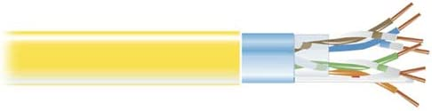 Black Box CAT5e 350-MHz Solid Bulk Cable F//UTP cm YL 1000-ft Spool