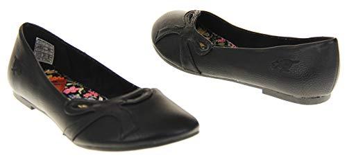 Ballet Pumps Ballerinas Dog Black UK 3 Flats Womens Rocket Shoes fqwtdXSf