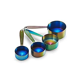 Farberware Set of 4 Stainless Steel Iridescent Measuring Cups