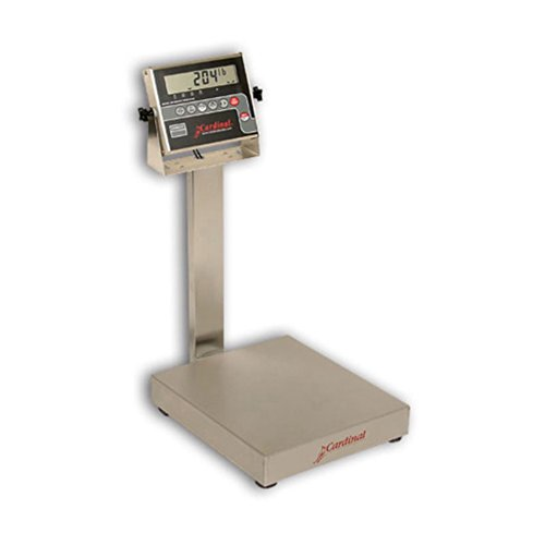 Detecto Stainless Steel Kitchen Scale - Detecto EB-150-204 Bench Scale, Electronic, 150 lb. Capacity, Stainless Steel, 204 Indicator, 16