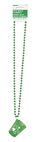 (Saint Patrick's Day Shot Glass Bead Necklace )