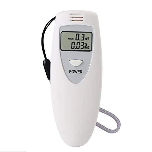 1pc Portable Alcohol Breath Tester Breathalyzer Blowing Analyzer Mini Detector LCD Display White