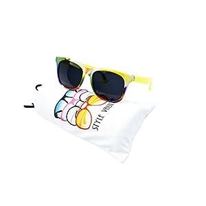 Kd3058-vp Style Vault Baby infant 0-1 year old Wayfarer Sunglasses (B2743F #11 neon yellow, uv400)