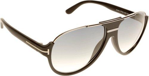 Tom Ford FT0334S 02W Black Dimitry Pilot Sunglasses Lens Category 3 Size ()