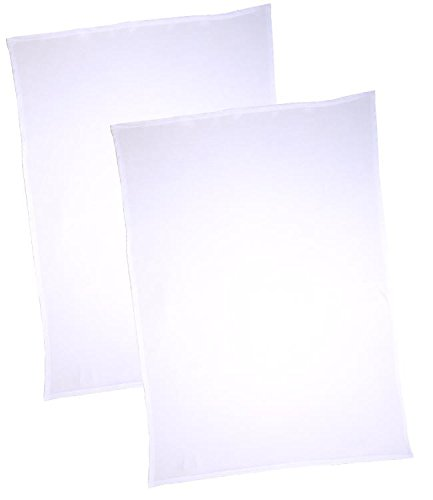 BabyPrem Pack of 2 Flat Cotton Crib / Pram Sheets 100 x 70cm CREAM SH010