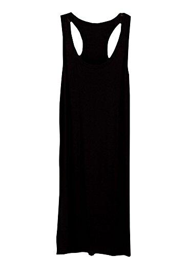 long black racerback dress - 8