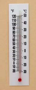 (SEOH Thermometer Plastic Back Double Scale -20 to 120 deg F -30 to 50 deg C)