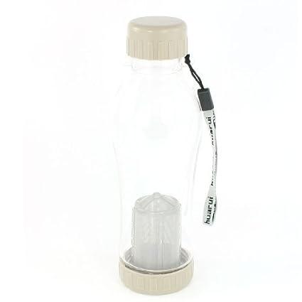 eDealMax Colador de té de plástico de 700 ml Diseño Beber Botella de agua Borrar Color