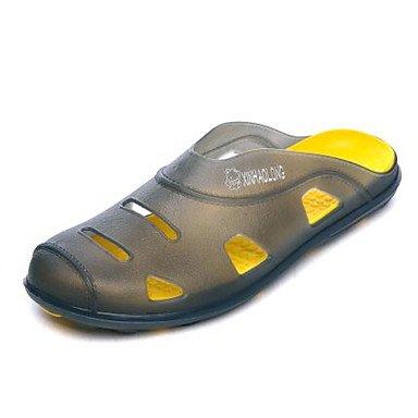 Los hombres sandalias zapatos agujero Confort Casual de resorte de goma azul verde amarillo Planas,amarillo Yellow