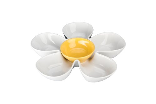 【国内在庫】 BIA Cordon Bleu section White BIA Daisy with Yellow Dip Cordon Bowl by BIA Cordon Bleu 5 section dish B000A6P3RY, 玖珂郡:ce4130c7 --- a0267596.xsph.ru