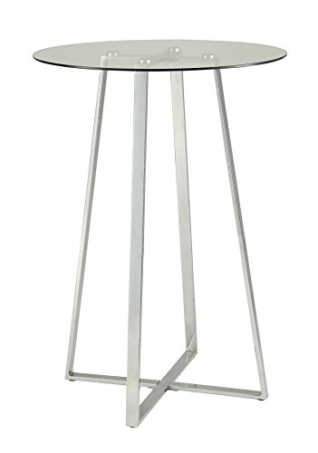 - Glass Bar Table Chrome and Clear