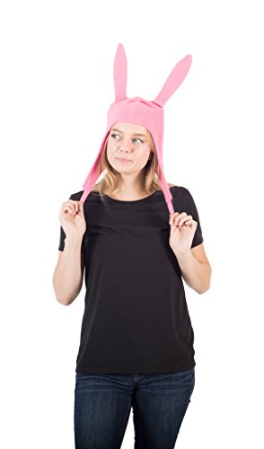 Concept One Accessories Bob's Burgers Louise Cosplay Fleece Hat, Pink, One Size -
