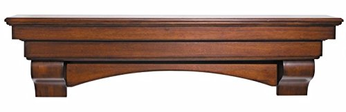 Pearl Mantels Auburn Mantel Shelf, 48-Inch, Distressed Cherry (48 Mantel)