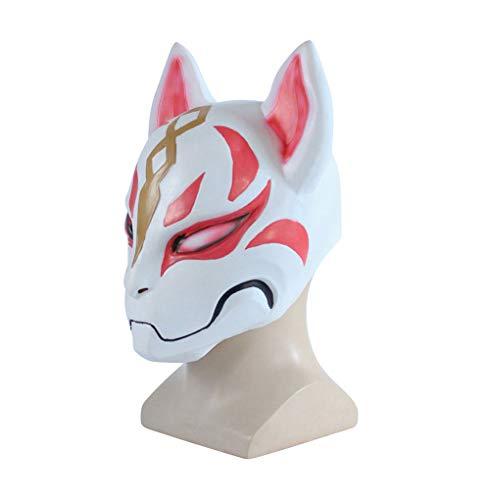 Fortnite Fox Drift Latex Mask Helmet Mens Womens Halloween Cosplay Costume GO