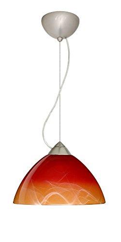 Besa Lighting 1KX-4201SL-SN Tessa - One Light Pendant, Choose Finish: SN: Satin Nickel, Choose Mounting Option: 1KX: Dome Canopy Cable Fixture, Choose Lamping Option: 75W Incandescent-A19 Medium-120v
