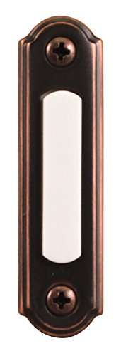 - Heath Zenith SL-257-02 Wired Push Button, Oiled-Rubbed Bronze