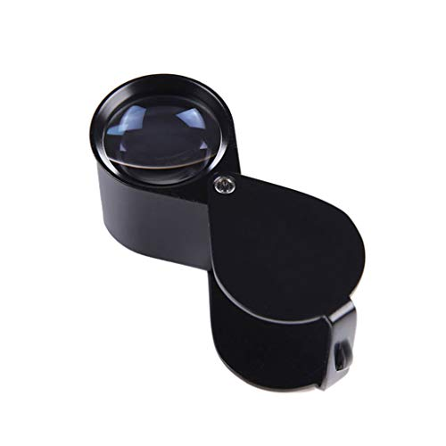 Magnifying Glass, High Magnification Hand-held Magnifying Glass Non-Lighting 20 Times High-Definition Jewelry Jade Wenwan Identification Folding Portable Magnifying Glass